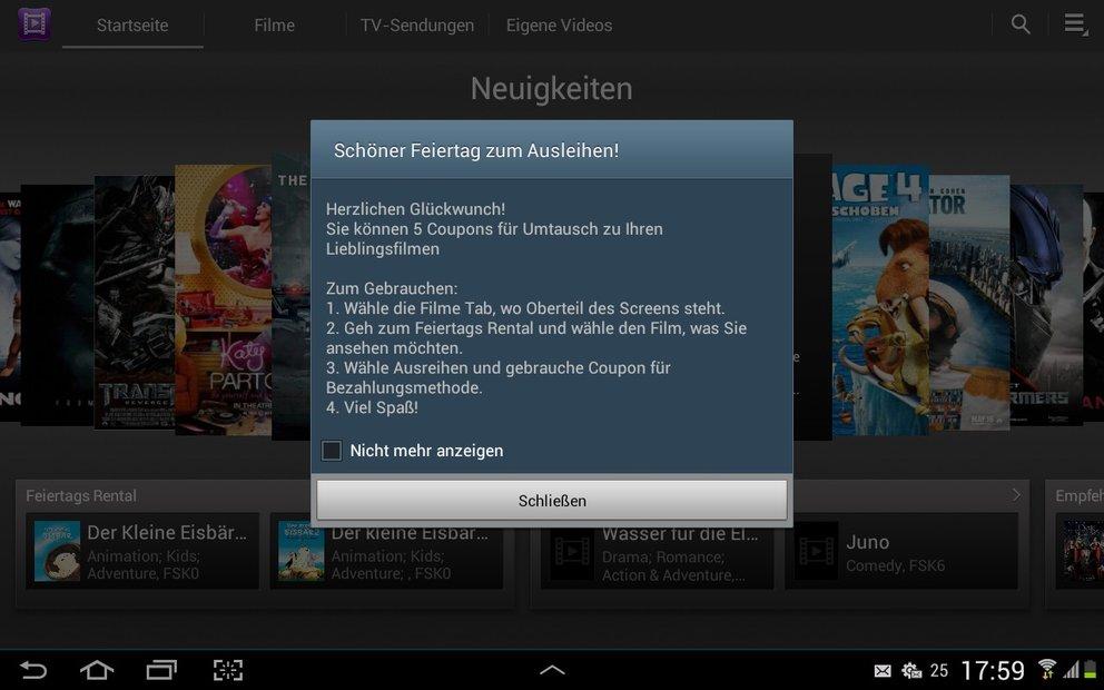 Samsung Video Hub: 5 Filme kostenlos ausleihen