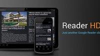 Reader: Schicker Google Reader - Client für das Android-Tablet