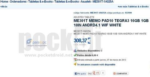 Asus-ME301T-Memo-Pad10-JellyBean-tablet-Spain-retailer-listing