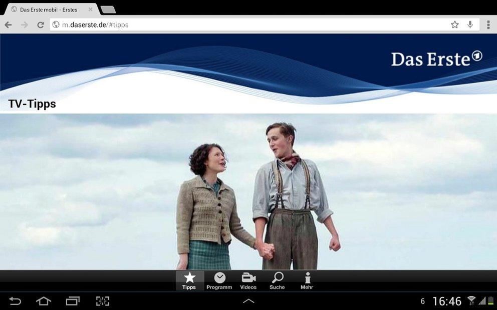 Das Erste: Livestream des TV-Programms für Tablets optimiert