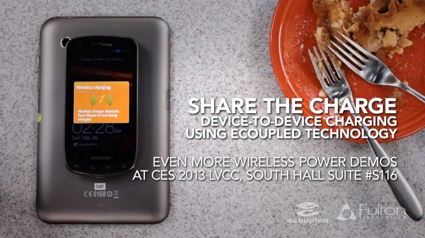 Fulton Innovation zeigt Tablets als mobile Qi-Ladestation für Smartphones