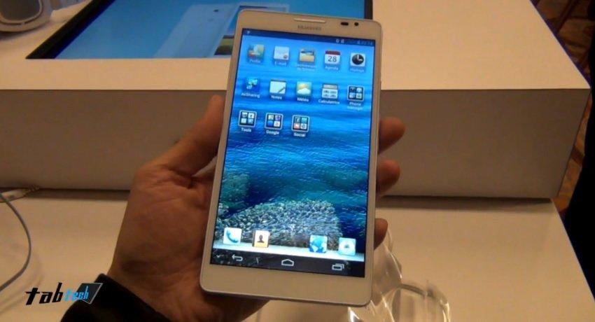 Huawei Ascend Mate mit 6.1 Zoll Display in unserem Hands On Video von der CES 2013
