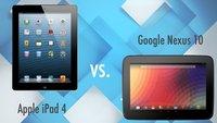 Vergleich: Apple iPad 4 vs. Google Nexus 10