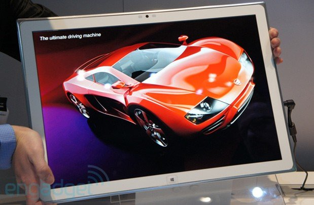 Panasonic zeigt einen 20 Zoll großen Windows 8 Tablet Prototyp in Ultra HD