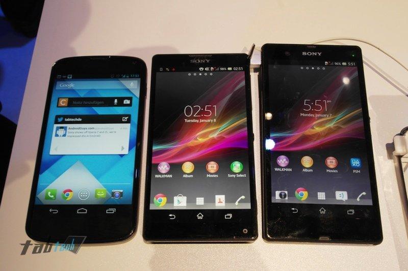 Sony Xperia Z und Xperia ZL: 5 Zoll Full HD Flaggschiffe mit Exmor RS Mobile