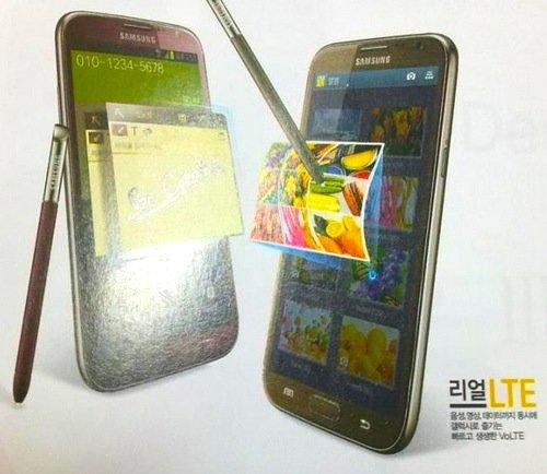 Samsung Galaxy Note 2 in Rot und Braun zeigt sich - Update: Erste echte Fotos