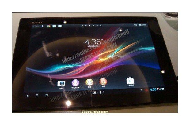 Sony Xperia Tablet Z: Erstes Foto und Video vom Launcher des 10,1 Zoll Tablets - Update: Hands On Video und weitere Bilder