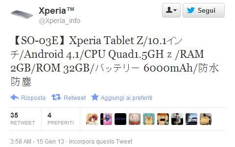 Sony Xperia Tablet Z: 10,1 Zoll Tablet mit Full HD Display, Quad Core Chip und Android 4.1