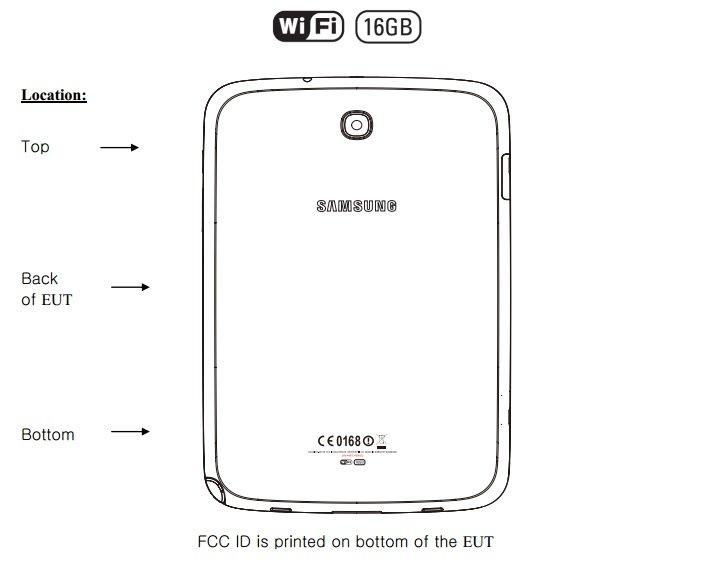 Samsung Galaxy Note 8.0 WiFi GT-N5110 bei der FCC