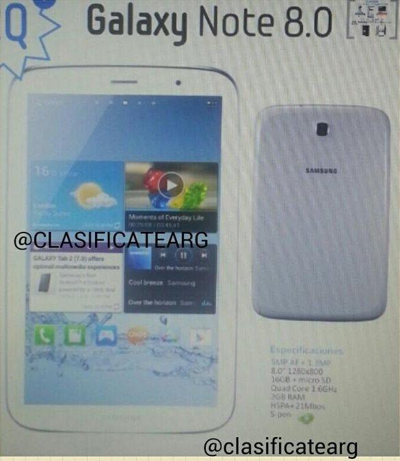 Samsung Galaxy Note 8.0: Sieht so das neue Tablet aus?