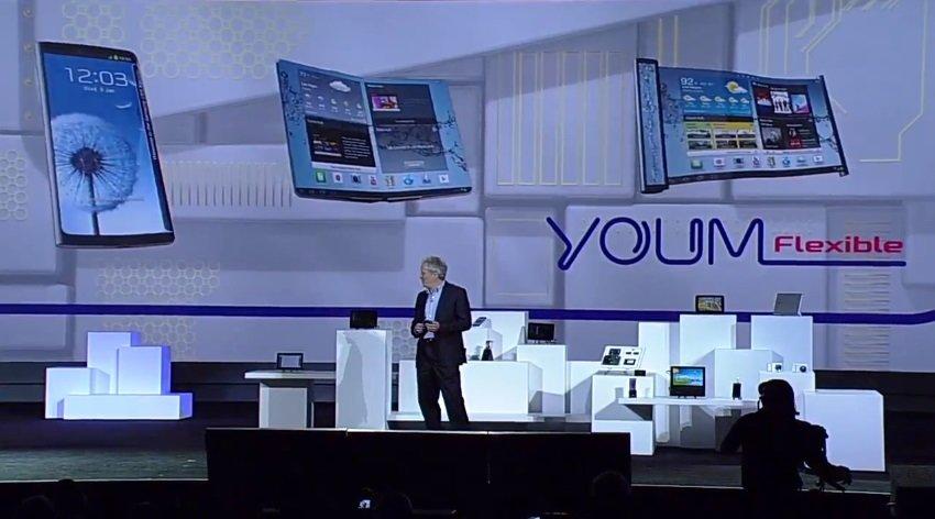 Samsung präsentiert flexible OLED YOUM-Displays
