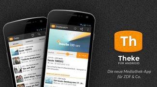 Theke: Die ZDF-Mediathek mit Holo-Design auf dem Android-Gerät