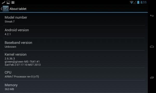 Dell Streak 7: Android 4.2 Jelly Bean unter CyanogenMod 10.1