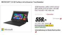 Microsoft Surface RT Tablet: Media Markt bietet Version mit Touch Cover günstiger an