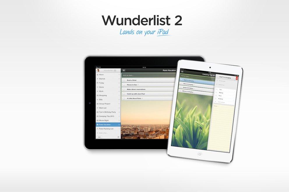 Wunderlist 2 kommt auch auf das iPad