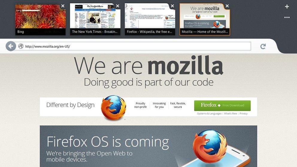 Metro Firefox und BlueStacks für Windows 8 optimiert