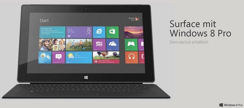 Microsoft Surface Pro besitzt etwas mehr freien Speicher als erwartet