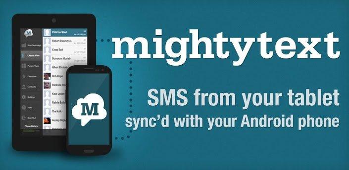 MightyText: SMS per Tablet über das Smartphone schreiben