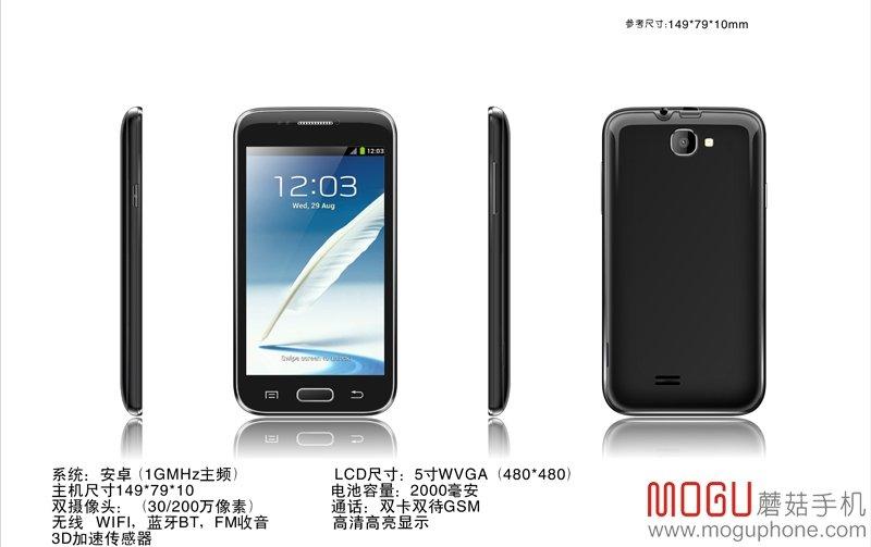 Mogu S1: 5 Zoll Android Smartlet für nur 36€ in China angekündigt