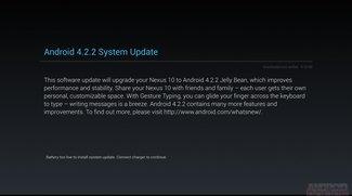 Android 4.2.2 Jelly Bean Update für das Nexus 10 und Nexus 7 wird ausgerollt