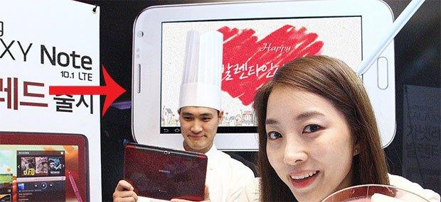 Samsung Galaxy Note 8.0: Finales Design auf einem Plakat zu sehen?