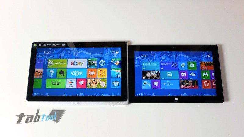 Acer W700 neben Surface Pro