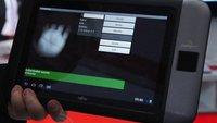 Fujitsu Tablet mit Handflächenscanner im Video demonstiert