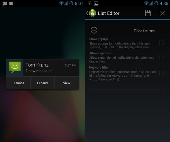 Notify Me!: Popup-Benachrichtigungen unter Android