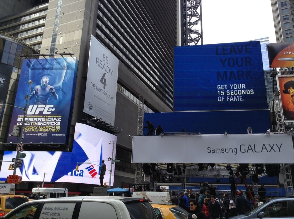 Samsung Galaxy S4 Launch Podcast vom Times Square in New York