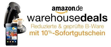 Amazon Warehouse Deals aktuell wieder mit 10% Sonderrabatt