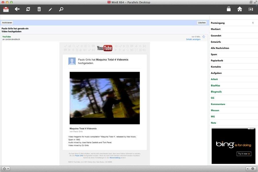Gmail Touch für Windows: Gmail-App für Touch-Displays