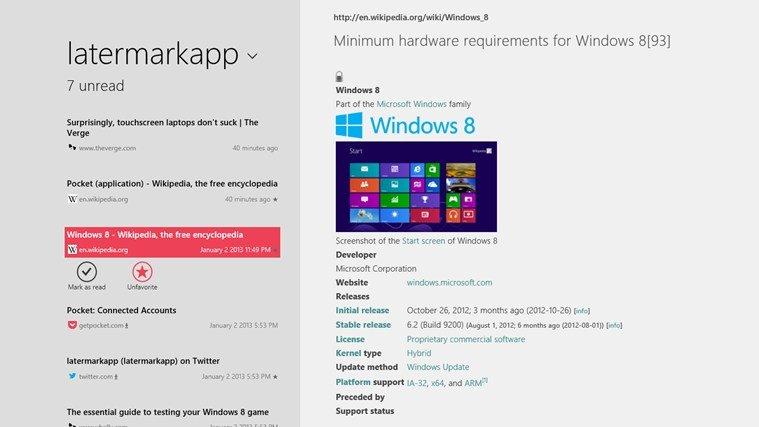 Latermark: Pocket auf Windows 8 &amp&#x3B; Windows RT nutzen