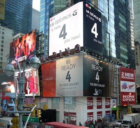 Am Times Square: LG nimmt Samsung aufs Korn