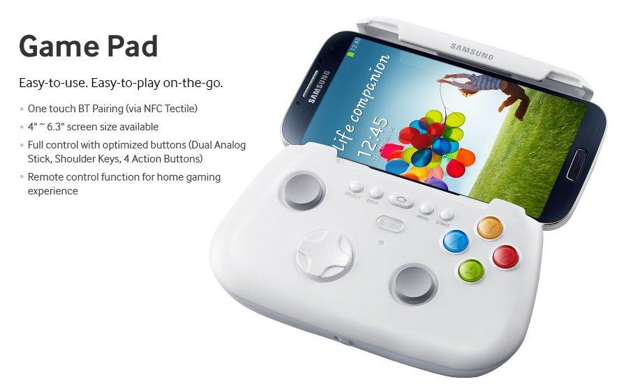 Samsung Game Pad: Hinweiß auf die Displaygröße des Galaxy Note 3?
