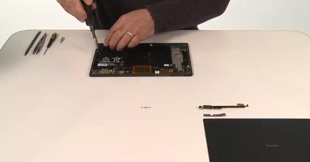 Sony Xperia Tablet Z: Stück für Stück in Einzelteile zerlegt