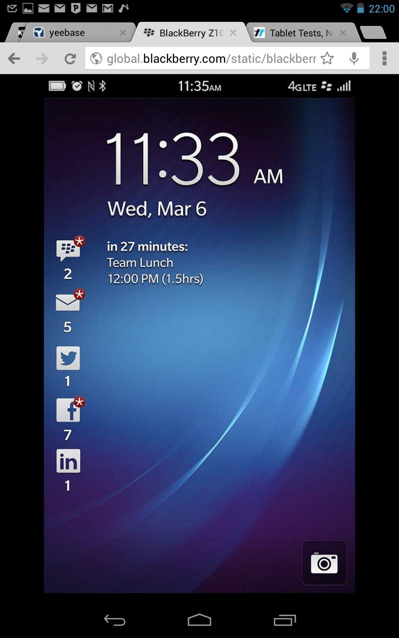 BlackBerry 10 auf anderen Geräten testen