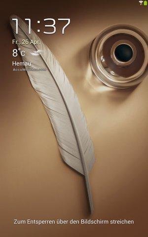 Galaxy Note 8.0 Lockscreen