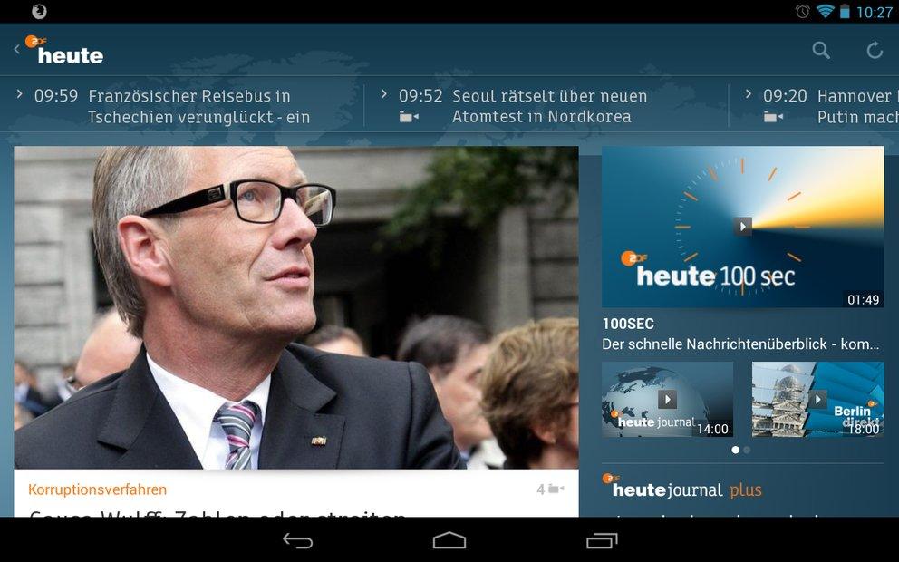 ZDFheute: App für Android und iOS jetzt mit Tablet-Support