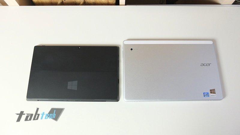 Surface Pro vs. W700 Rückseite