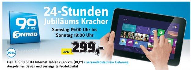 Deal: Dell XPS 10 heute bis 19 Uhr bei Conrad für 299 Euro
