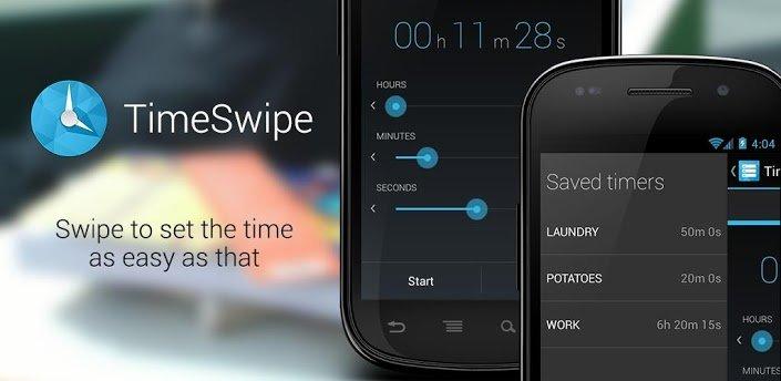 TimeSwipe: Timer-App für Android im Holo-Design