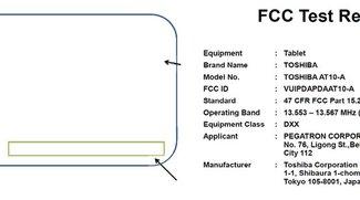 Toshiba AT10 Tablet mit Nvidia Tegra 4 bei der FCC