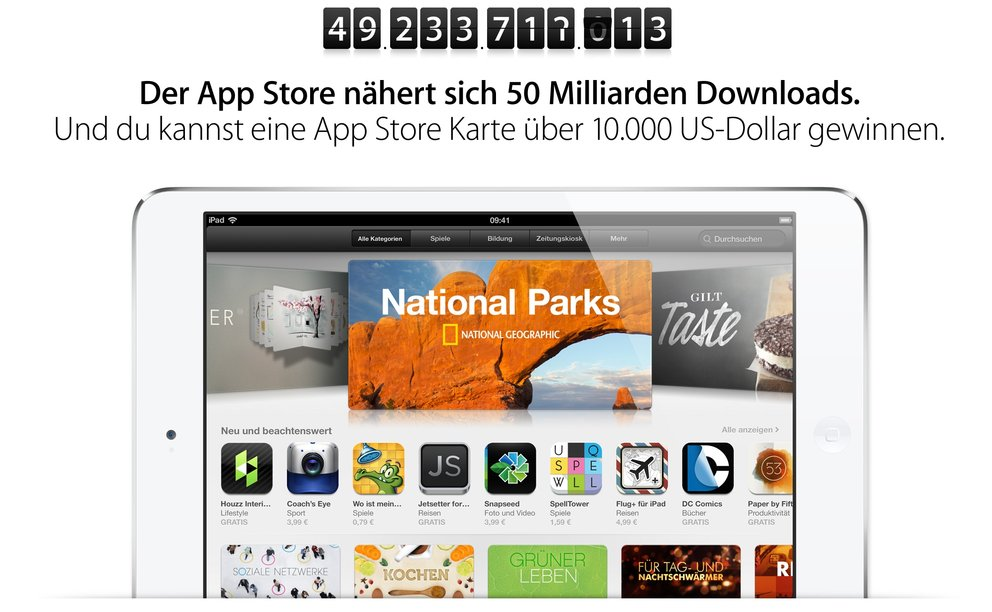 $10.000 App Store Karte für 50-milliardsten App-Download