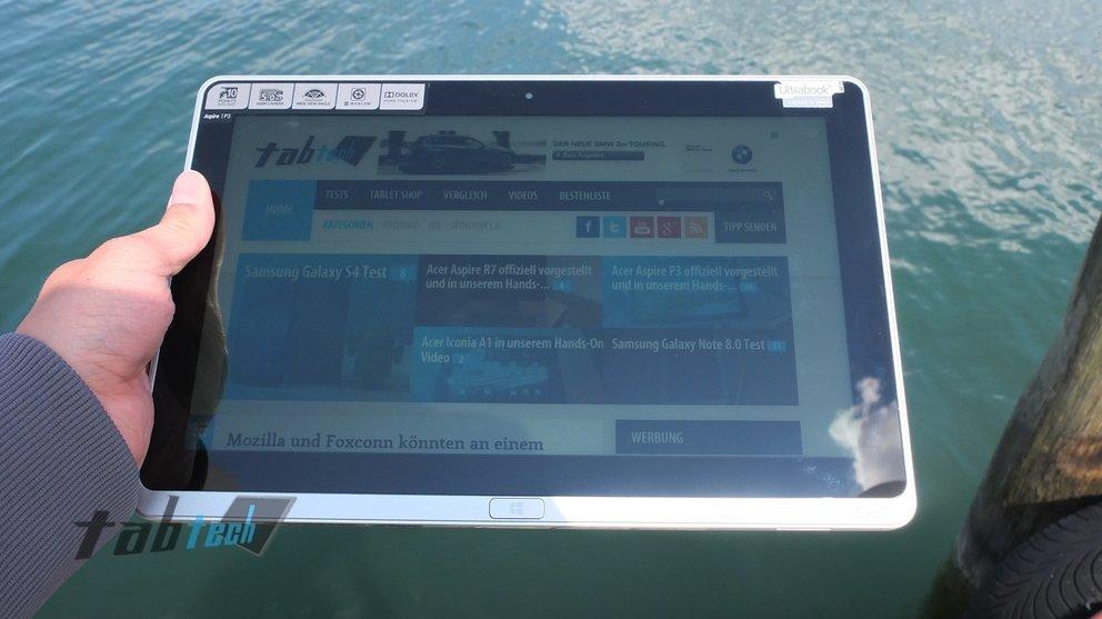 Acer Aspire P3 Display Outdoor