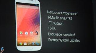 Google I/O: Samsung Galaxy S4 mit Stock-Android für die USA präsentiert