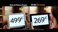 Neuer TV Spot - Amazon vergleicht das Kindle Fire HD 8.9 mit dem Apple iPad
