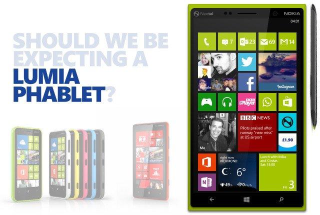 Nokia Lumia Phablet mit 6 Zoll soll noch in diesem Jahr erscheinen