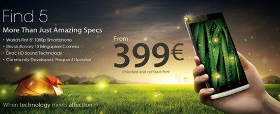 Oppo Find 5 ab dem 27. Mai in Europa für 399€ - Update: Verkaufsstart um 11 Uhr