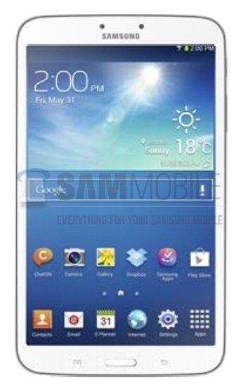 Samsung Galaxy Tab 3 8.0: Erstes Bild und alle technischen Daten