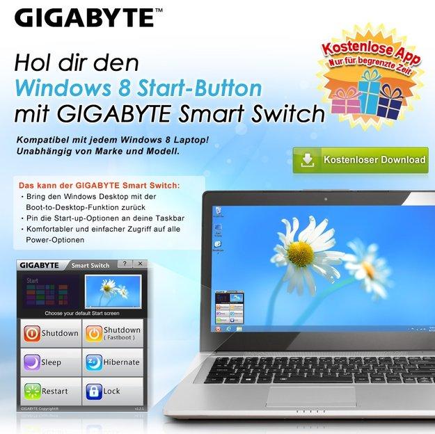 Gigabyte Smart Switch: Hol dir den Startknopf in Windows 8 zurück